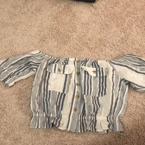 stripped off the shoulder top